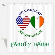 Irish / USA Heritage Customizable Shower Curtain
