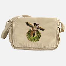 Christmas Goat Messenger Bag