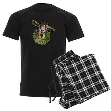 Christmas Goat Men's Dark Pajamas