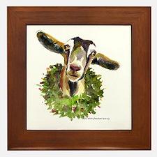 Christmas Goat Framed Tile