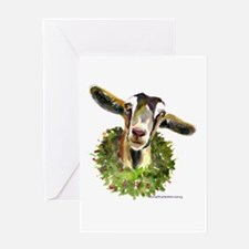 Christmas Goat Greeting Card