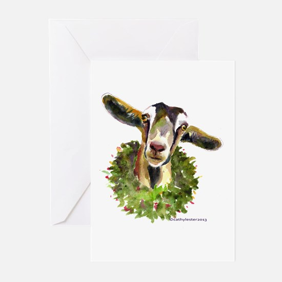 Christmas Goat Greeting Cards (Pk of 10)