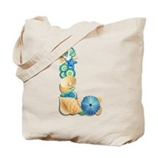 Beach Theme Initial L Tote Bag