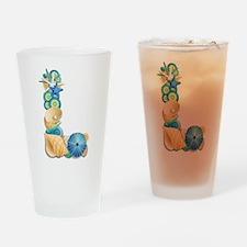 Beach Theme Initial L Drinking Glass