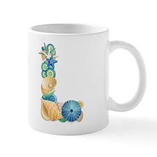 Beach Theme Initial L Mug