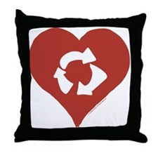 Love - Recycle Throw Pillow