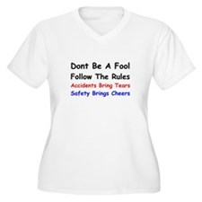 Dont Be a Fool Follow the Rules Plus Size T-Shirt
