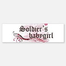 Soldiers Babygirl Bumper Bumper Bumper Sticker