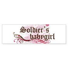 Soldiers Babygirl Bumper Car Sticker