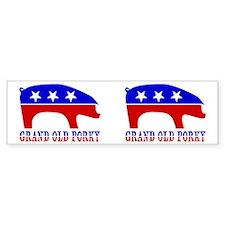 Grand Old Porky Bumper Bumper Sticker