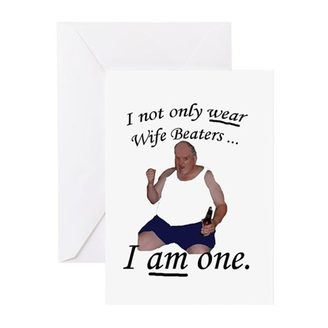 Wife Beater Greeting Cards (Pk of 10)