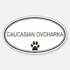 Oval Caucasian Ovcharka Oval Decal
