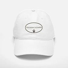 Oval Caucasian Ovcharka Baseball Baseball Cap