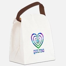 Quilting Hearts Canvas Lunch Bag
