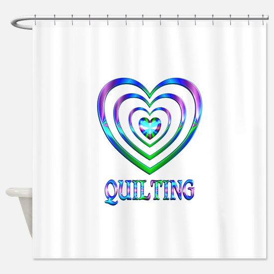 Quilting Hearts Shower Curtain