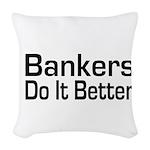 banker32.png Woven Throw Pillow