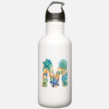 Beach Theme Initial M Water Bottle