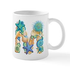 Beach Theme Initial M Mug