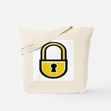 Closed Padlock Tote Bag