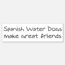 Spanish Water Dogs make frien Bumper Bumper Bumper Sticker