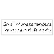 Small Munsterlanders make fri Bumper Bumper Sticker