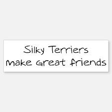 Silky Terriers make friends Bumper Bumper Bumper Sticker