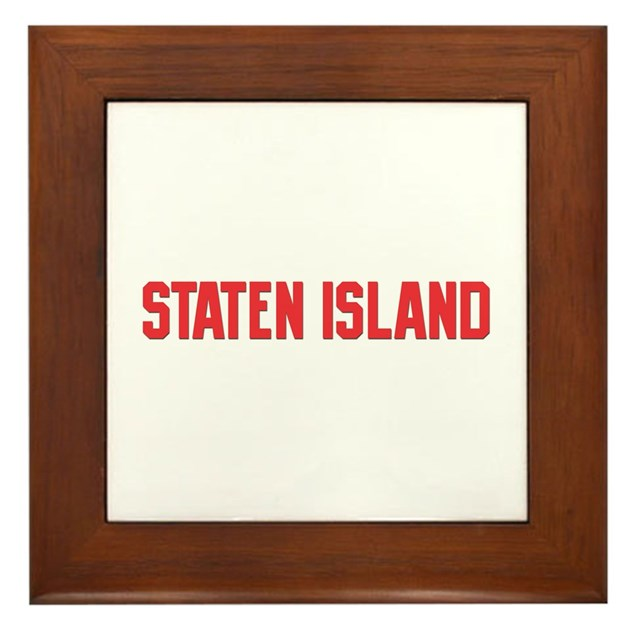 Staten Island Framed Tile By Citymemories