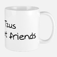 Shih Tzus make friends Mug