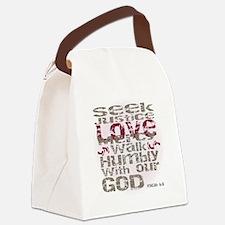 Micah 6:8 Canvas Lunch Bag