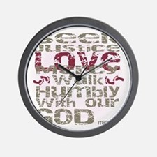 Micah 6:8 Wall Clock