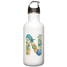 Beach Theme Initial N Water Bottle