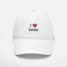 I LOVE SOFTBALL 4 Baseball Baseball Baseball Cap