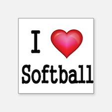 I LOVE SOFTBALL 4 Sticker