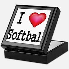 I LOVE SOFTBALL 4 Keepsake Box