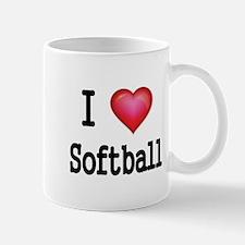 I LOVE SOFTBALL 4 Mug