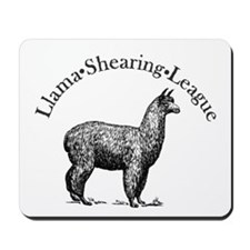 Llama Shearing League Mousepad