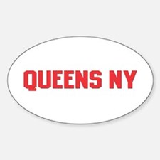 Queens NY Oval Decal