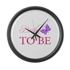 Bride To Be (Butterfly) Large Wall Clock