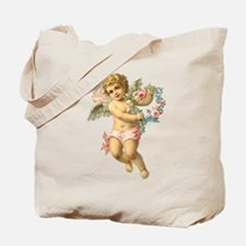 Cute Vintage Victorian Angel /Cherub Tote Bag
