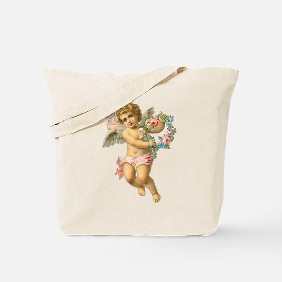 Cute Vintage Victorian Angel /Cherub Tote Bag