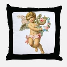 Cute Vintage Victorian Angel /Cherub Throw Pillow
