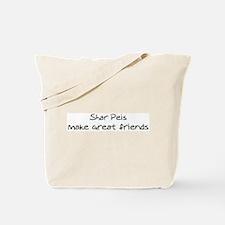 Shar Peis make friends Tote Bag