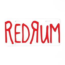 Redrum Aluminum License Plate