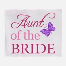 Aunt Of The Bride (Butterfly) Throw Blanket