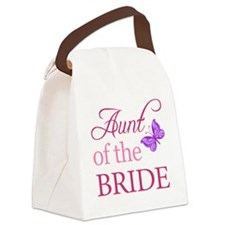 Aunt Of The Bride (Butterfly) Canvas Lunch Bag