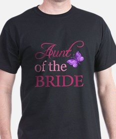 Aunt Of The Bride (Butterfly) T-Shirt