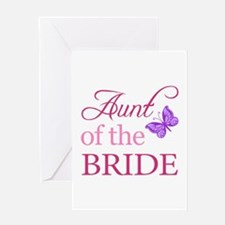 Aunt Of The Bride (Butterfly) Greeting Card