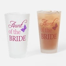 Aunt Of The Bride (Butterfly) Drinking Glass