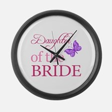 Daughter Of The Bride (Butterfly) Large Wall Clock