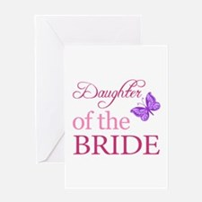 Daughter Of The Bride (Butterfly) Greeting Card